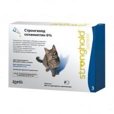 Stronghold-45,капли на холку от блох и глистов кошек,(2,5- 7,5 кг),1 пипетка.
