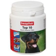 Beaphar Top10,мультивитаминная добавка с L-карнитином для собак,уп.180 шт.