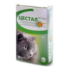 Цестал,антигельминтик для кошек,1 таблетка