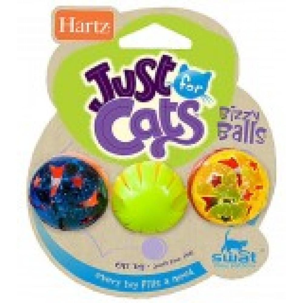 Hartz Bizzy Balls,занятные шарики для кошек,уп.3 шт.