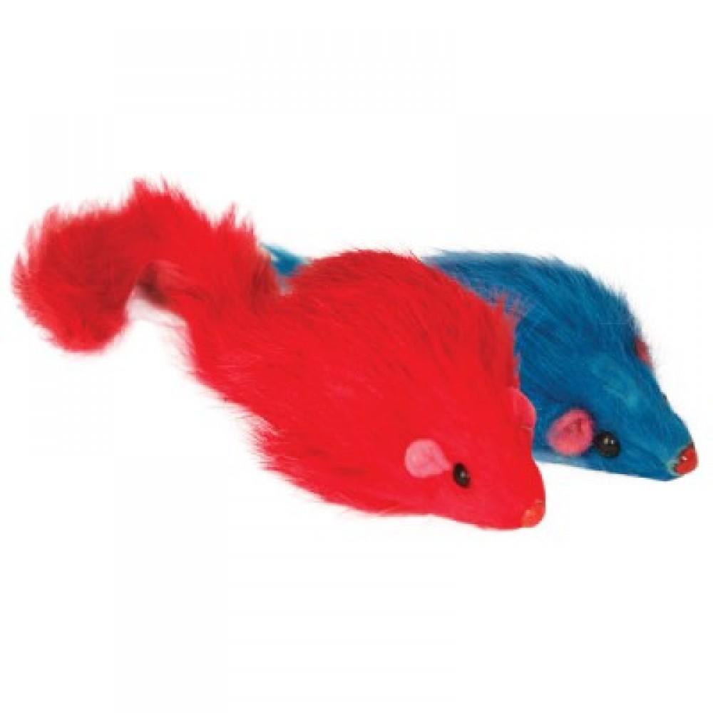 Мышь цветная погремушка,14 см.