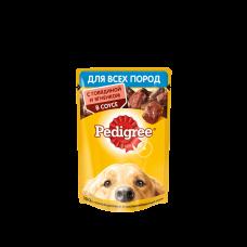 Pedigree,влажный корм для собак с говядиной и ягненком в соусе,85гр.