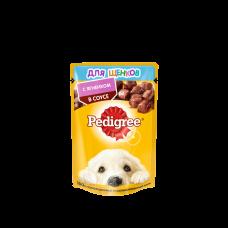 Pedigree,влажный корм для щенков с ягненком в соусе,85гр.