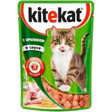 Kitekat влажный корм для кошек с кроликом в соусе,85 гр.