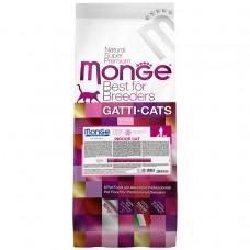 Monge Cat Breeder Indoor,сухой корм для кошек живущих в доме,уп.10кг.