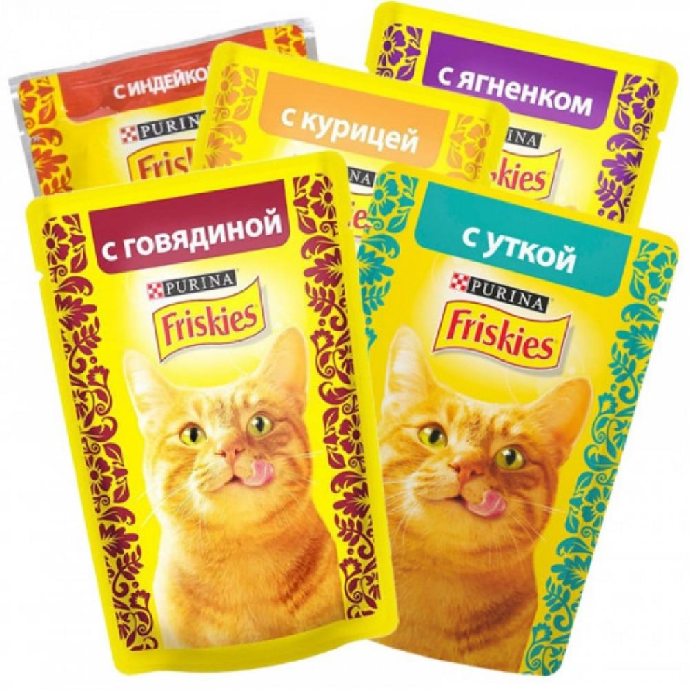 Friskies,влажный корм для кошек микс 4+1