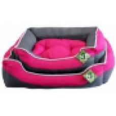 ЕвроПродукт №1,Фэшн лежак,малиново-серый с подушкой,50*40*16 см.