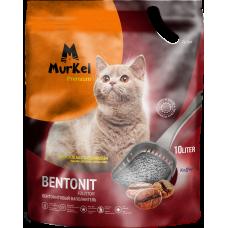 Murkel,комкующийся наполнитель для кошачьего туалета с ароматом кофе,уп.10л.(8 кг.)