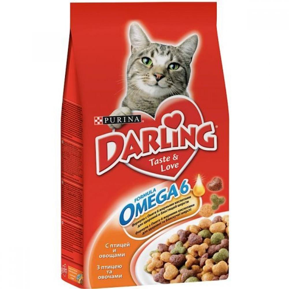 Darling,сухой корм для кошек с домашней птицей и овощами,уп.2кг.