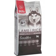 Blitz Adult Lamb&Rice,корм для взрослых собак с ягненком и рисом,уп.15кг.