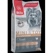 Blitz Adult Mini&Toy Breeds, корм для взрослых собак мелких пород, уп.7 кг.