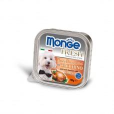 Monge Fresh Dog,паштет для собак с индейкой,уп.100 гр.