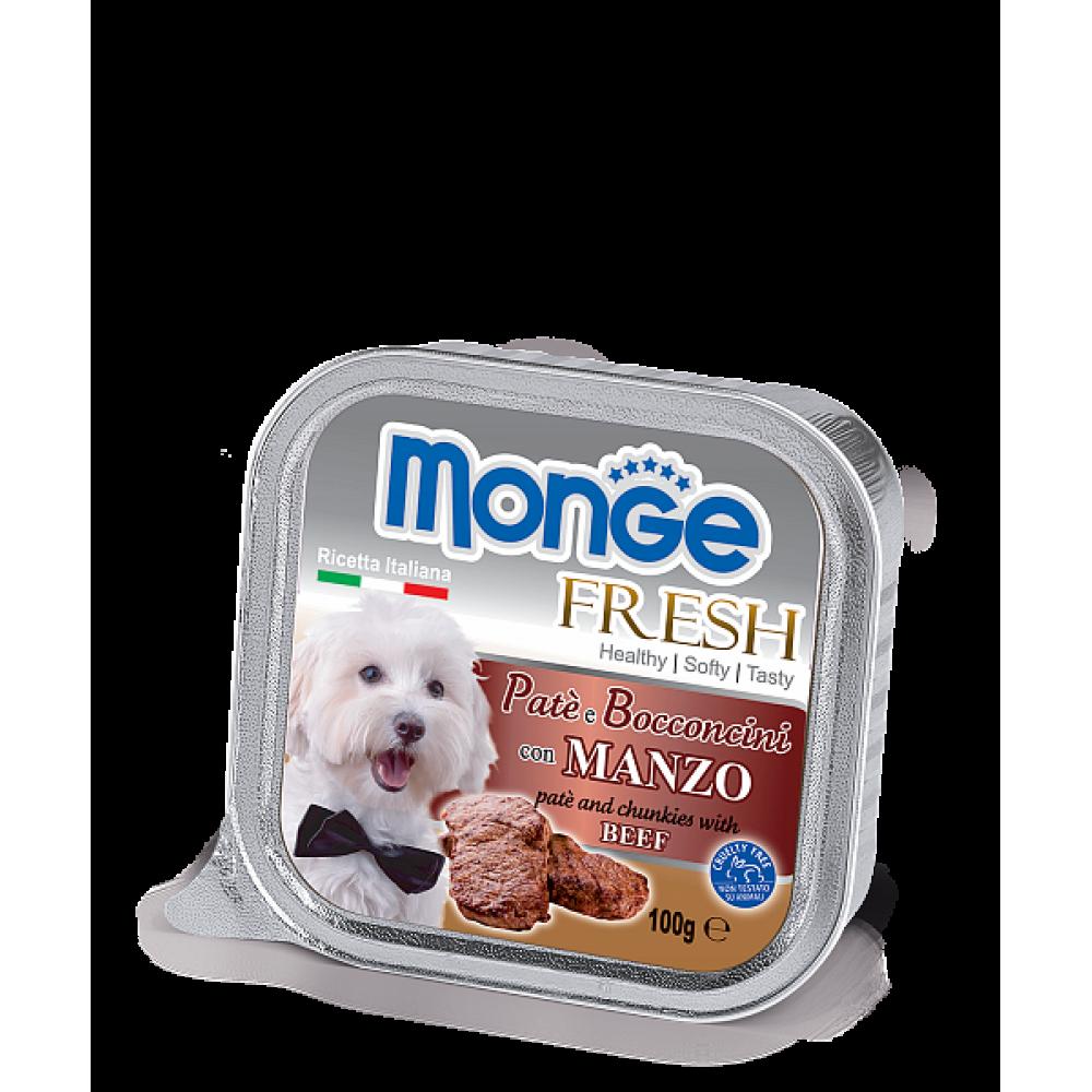 Monge Fresh Dog,паштет для собак с телятиной,уп.100 гр.