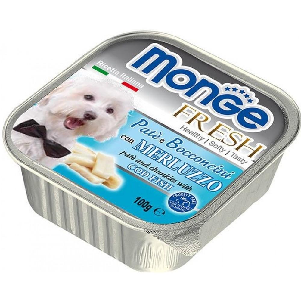 Monge Fresh Dog,паштет для собак с треской,уп.100 гр.