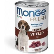 Monge Fresh Dog,паштет для собак с телятиной,банка 400 гр.