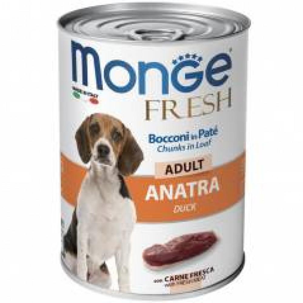 Monge Fresh Dog,паштет для собак с уткой,банка 400 гр.