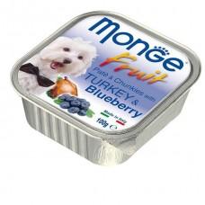Monge Fruit Dog,паштет для собак с индейкой и черникой,уп.100 гр.