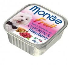 Monge Fruit Dog,паштет для собак с курицей и малиной,уп.100 гр.