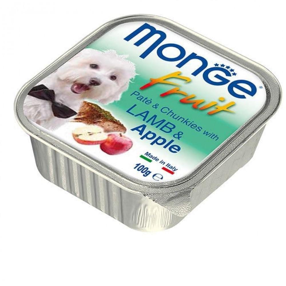 Monge Fruit Dog,паштет для собак с ягненком и яблоком,уп.100 гр.