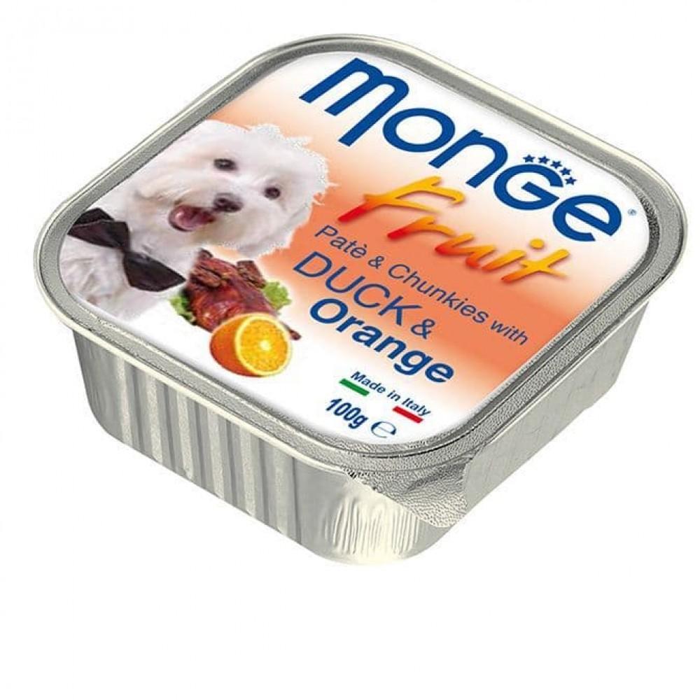 Monge Fruit Dog,паштет для собак с уткой и апельсином,уп.100 гр.