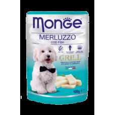 Monge Dog Grill,влажный корм для собак c треской,уп.100 гр.