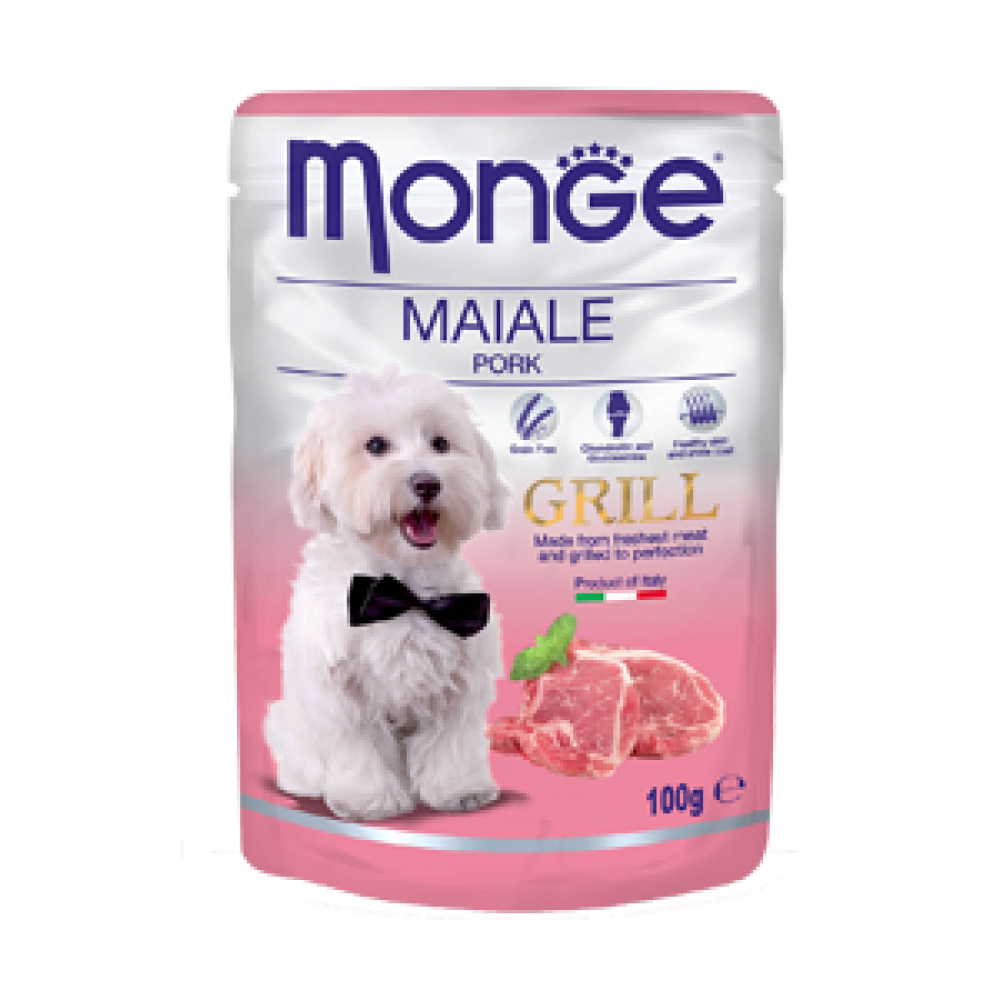 Monge Dog Grill,влажный корм для собак cо свининой,уп.100 гр.