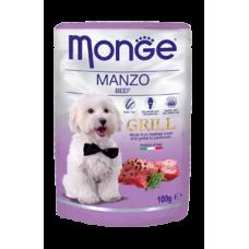 Monge Dog Grill,влажный корм для собак c говядиной,уп.100 гр.
