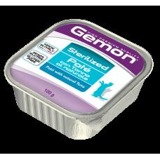 Gemon Cat Pate Sterilised,паштет для стерилизованных кошек с тунцом,ламистер 100 гр.