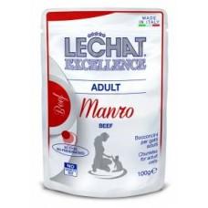 Lechat Excellence Adult,кусочки для взрослых кошек с говядиной,пауч 100 гр.