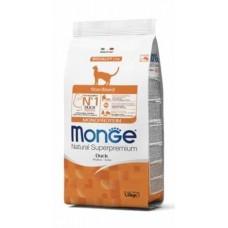 Monge Cat Sterilised Duck,сухой монопротеиновый корм для стерилизованных кошек,уп.1,5 кг.
