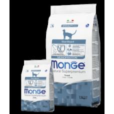 Monge Cat Sterilised Trout,сухой монопротеиновый корм для стерилизованных кошек с форелью,уп.1,5 кг.