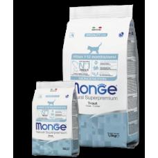 Monge Cat Kitten Trout,сухой монопротеиновый корм для котят с форелью,уп.1,5 кг.