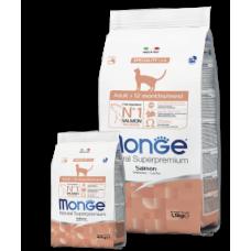Monge Cat Salmone,сухой монопротеиновый корм для взрослых кошек с лососем,уп.1,5 кг.