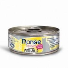 Monge Delicate Cat Cans,влажный корм для кошек с курицей,банка 80 гр.