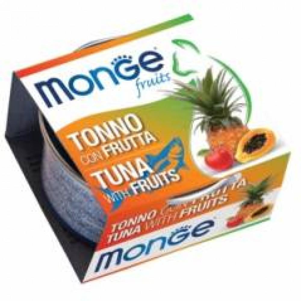 Monge Frut Cat,влажный корм для кошек тунец с фруктами,уп.80 гр.