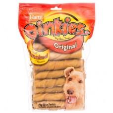 Hartz Pig Skin Twists,твисты из подкопченной свиной шкуры с начинкой,13 см*20шт.