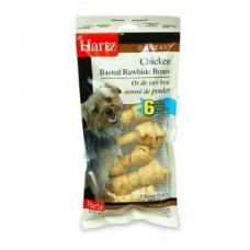 Hartz Chicken Basted Rawhide Bones,косточки со вкусом курицы,10 см*6 шт.