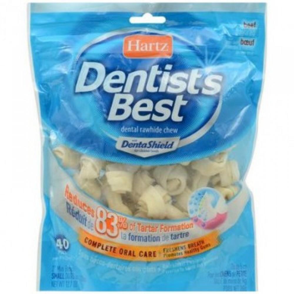 Hartz Dentist's Best,cтоматологическая косточка для маленьких собак со вкусом говядины