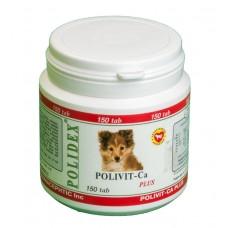 Polidex Polivit-Ca plus,мультивитамины для щенков,150 таблеток