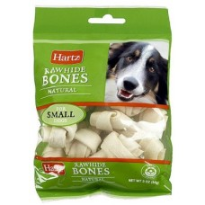 Hartz Natural Rawhide Chewsfor Dogs,косточки для собак,7 см.,уп.4 шт.