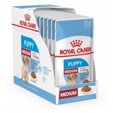 Royal Canin Medium Puppy,влажный корм для щенков средних пород в возрасте до 12 месяцев,уп.10*140гр