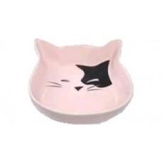 ЕвроПродукт №1,миска керамическая в форме мордочки кошки,12,5*3 см.