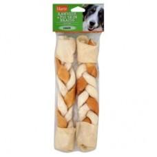 Hartz 2in1 Rawhide & Pigskin,косичка из говяжьей и свиной кожи для собак,2 шт.