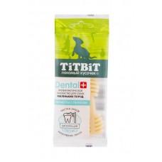 TitBit ДЕНТАЛ+ Зубочистка с творогом для собак маленьких пород