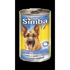 Simba Cans,кусочки с курицей и индейкой для собак, банка 415 гр.