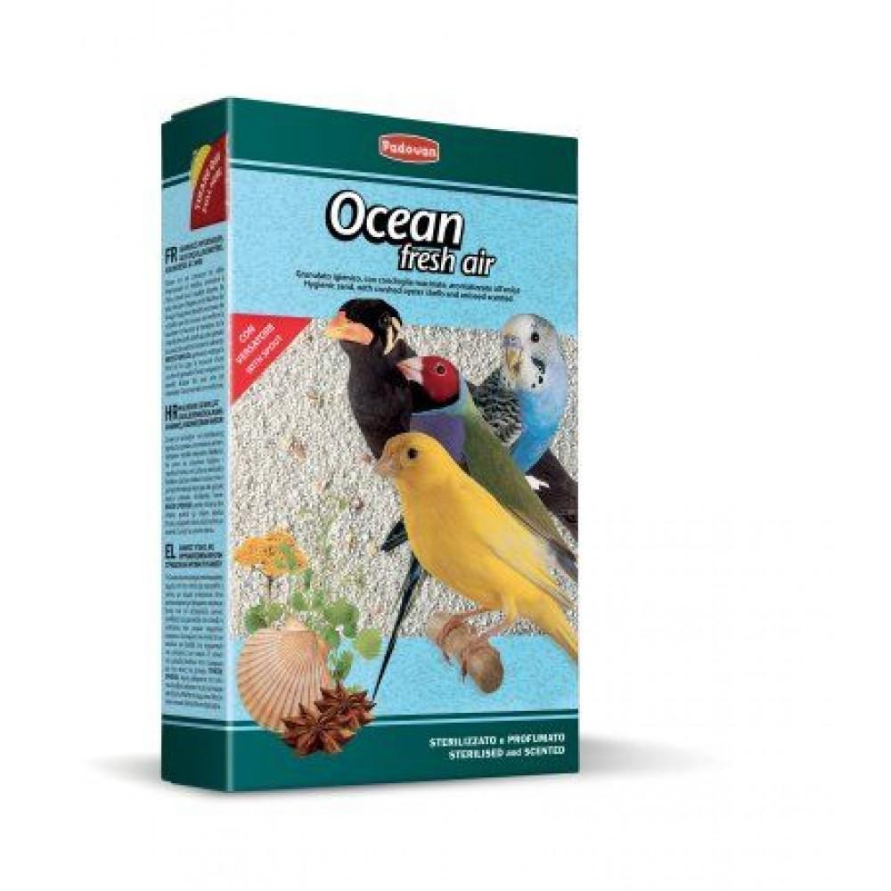 Padovan Ocean Fresh Air,наполнитель для птиц с измельченными ракушками и анисовым ароматом,1 кг.