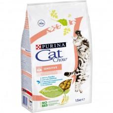 Cat Chow Sensitive,сухой корм для кошек с чувствительным пищеварением,уп.1,5 кг.