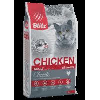 Blitz Classic Adult Cats Chicken, корм для взрослых кошек со вкусом курицы,уп.10 кг.
