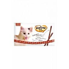 Мнямс лакомые палочки для кошек с говядина и печень,уп.13,5 см.10*5 гр.