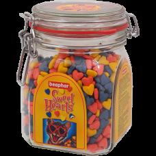 Beaphar Sweethearts лакомство разноцветные сердечки,150 шт.
